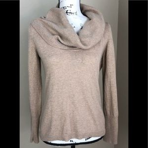 Banana Republic Camel Wool Blend Cowlneck Sweater